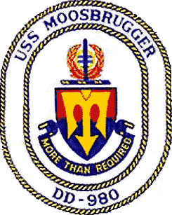 Coat of arms (crest) of the Destroyer USS Moosbrugger (DD-980)