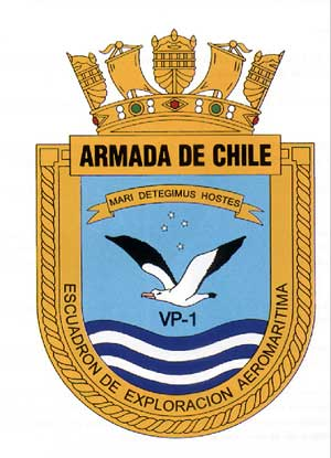 Coat of arms (crest) of the Maritime Exploration Squadron VP-1, Chilean Navy