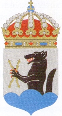 Coat of arms (crest) of the HMS Ulvön, Swedish Navy