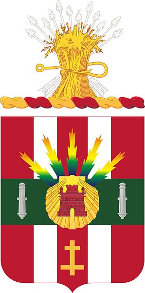 Coat of arms (crest) of the 4th Air Defense Artillery Regiment, US Army