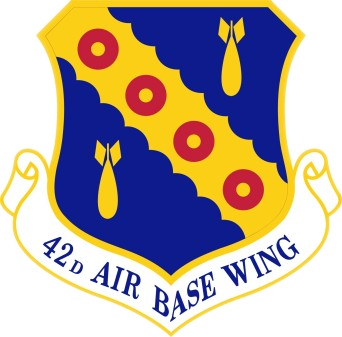 Coat of arms (crest) of the 42nd Air Base Wing, US Air Force