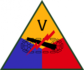 Coat of arms (crest) of the V Armored Corps, US Army