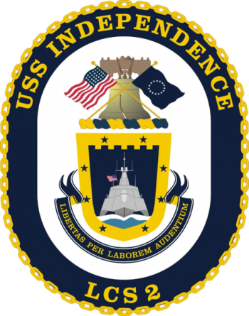Coat of arms (crest) of the Littoral Combat Ship USS Independence (LCS-2)