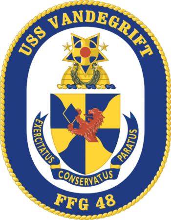 Coat of arms (crest) of the Frigate USS Vandegrift (FFG-48)