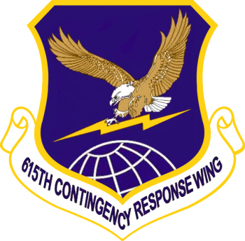Coat of arms (crest) of the 615th Contingency Response Wing, US Air Force