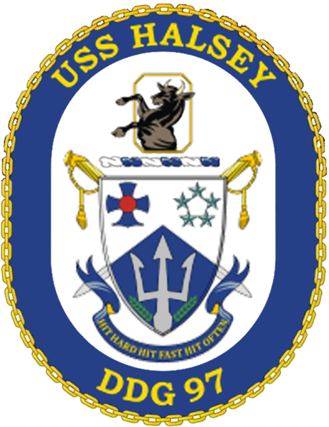 Coat of arms (crest) of the Destroyer USS Halsey (DDG-97)