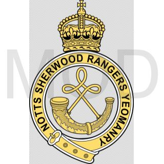 Coat of arms (crest) of the Notts Sherwood Rangers Yeomanry, British Army