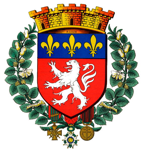 lyon blason armoiries de lyon coat of arms crest. Black Bedroom Furniture Sets. Home Design Ideas