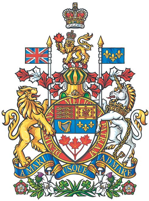 National Arms Of Canada Coat Of Arms Crest Of National Arms Of