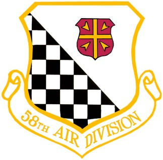 Coat of arms (crest) of the 58th Air Division, US Air Force