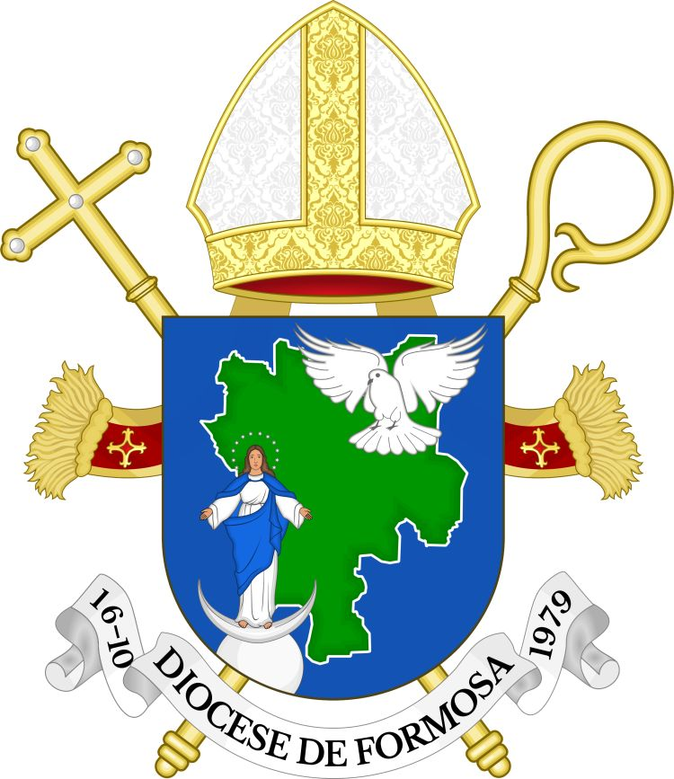 Arms (crest) of Diocese of Formosa