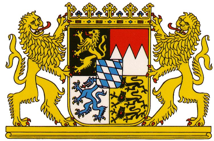 bayern wappen von bayern   coat of arms  crest  of bayern shield clipart software shield clipart outline