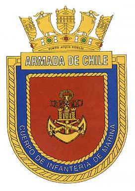 Coat of arms (crest) of the Corps of Marine Infantry, Chilean Navy