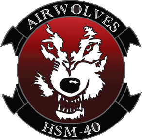 Coat of arms (crest) of the Helicopter Maritime Strike Squadron 40 (HSM-40) Airwolves, US Navy
