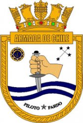 Coat of arms (crest) of the Ocean Patrol Vessel Piloto Pardo (OPV-81), Chilean Navy