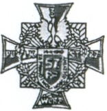 Coat of arms (crest) of the 57th King Carol II of Romania's Infantry Regiment, Polish Army