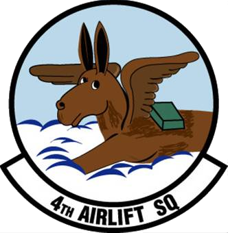 Coat of arms (crest) of the 4th Airlift Squadron, US Air Force