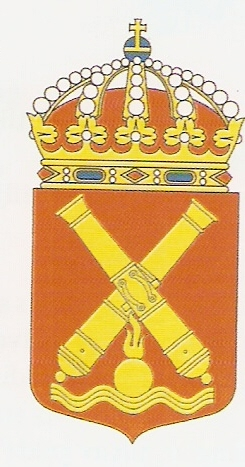 Coat of arms (crest) of the Coastal Artillery, Swedish Navy