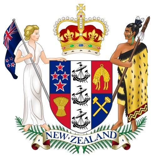 Arms (crest) of National Arms of New Zealand