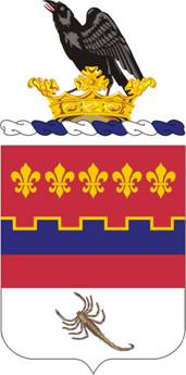 Coat of arms (crest) of the 146th Field Artillery Regiment, Washington Army National Guard