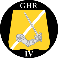 Emblem (crest) of the IV Battalion, The Guards Hussar Regiment, Danish Army