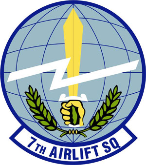 Coat of arms (crest) of the 7th Airlift Squadron, US Air Force