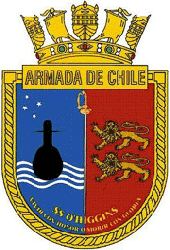 Coat of arms (crest) of the Submarine O'Higgins (SS-23), Chilean Navy