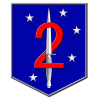 Coat of arms (crest) of the 2nd Marine Raider Battalion, USMC