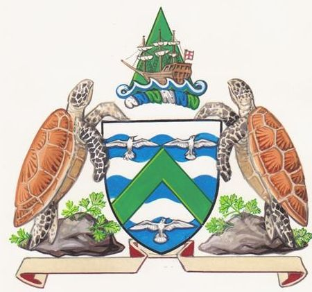 Arms (crest) of Ascension Island