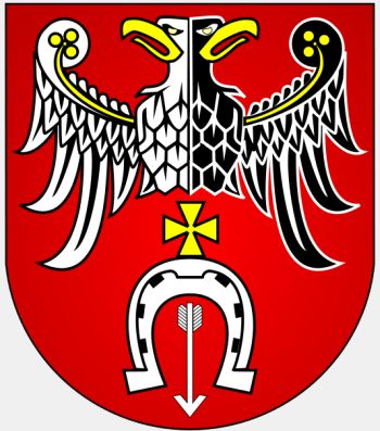 Arms (crest) of Brzeziny (county)