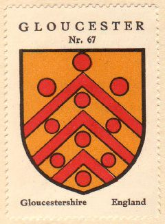 Arms (crest) of Gloucester (England)