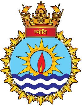 Coat of arms (crest) of the INS Jyoti, Indian Navy