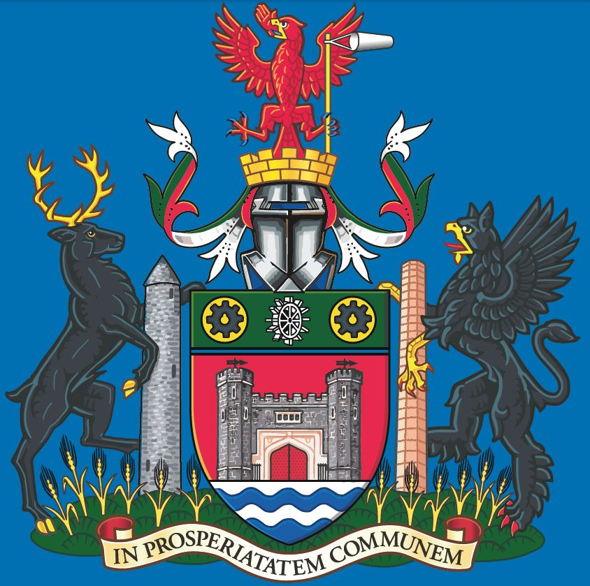 Antrim and Newtownabbey - Coat of arms (crest) of Antrim and
