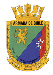 Coat of arms (crest) of the Antofagasta Naval Telecommunications Centre, Chilean Navy