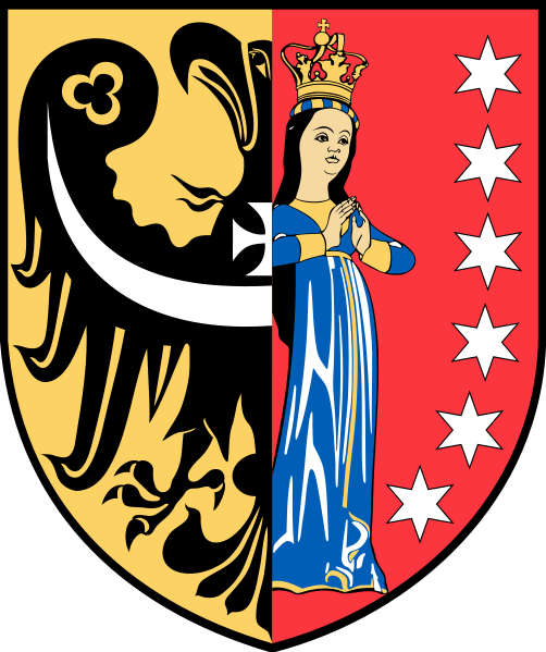 Arms of Polkowice (county)