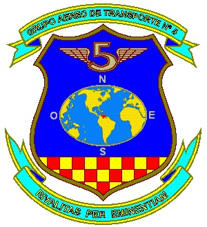 Coat of arms (crest) of the Air Transport Group No 5, Air Force of Venezuela