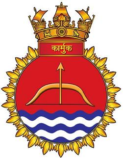 Coat of arms (crest) of the INS Karmuk, Indian Navy