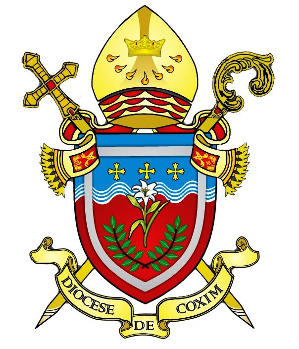 Arms (crest) of Diocese of Coxim