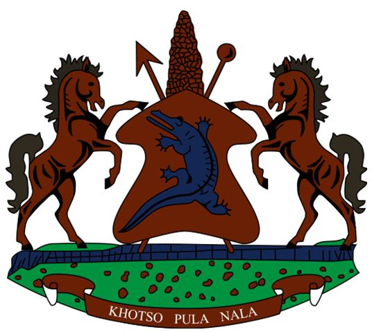Arms of National Arms of Lesotho