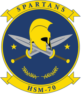 Coat of arms (crest) of the Helicopter Maritime Strike Squadron 77 (HSM-77) Saberhawks, US Navy