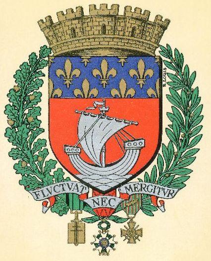 paris - armoiries de paris / blason de paris / coat of arms of paris