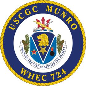 Coat of arms (crest) of the USCGC Munro (WHEC-724)