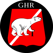 Emblem (crest) of the I Armoured Infantry Battalion, The Guards Hussar Regiment, Danish Army
