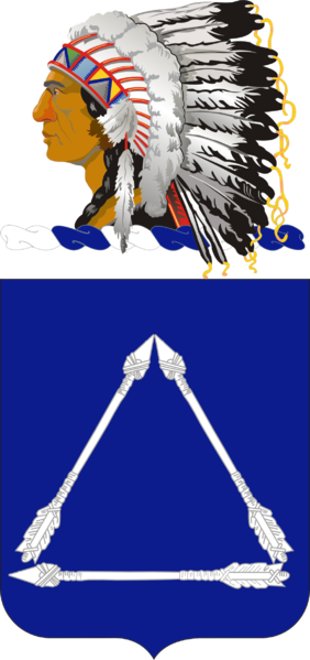 Coat of arms (crest) of the 180th Cavalry Regiment (formerly 180th Infantry), Oklahoma Army National Guard