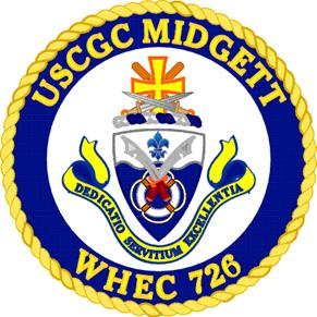 Coat of arms (crest) of the USCGC Midgett (WHEC-726)