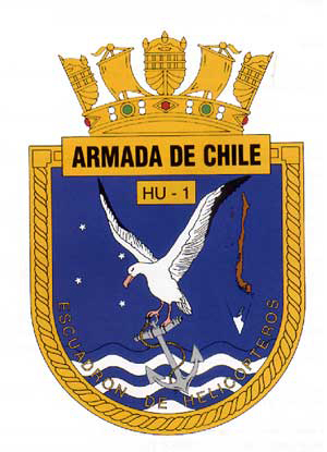 Coat of arms (crest) of the General Purpose Helicopter Squadron HU-1, Chilean Navy