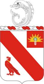 Coat of arms (crest) of the 21st Field Artillery Regiment, US Army
