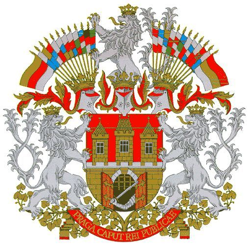 Praha Prague Erb Znak Praha Prague Coat Of Arms Crest Of