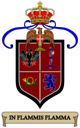 Arms of 10th Bersaglieri Regiment, Italian Army