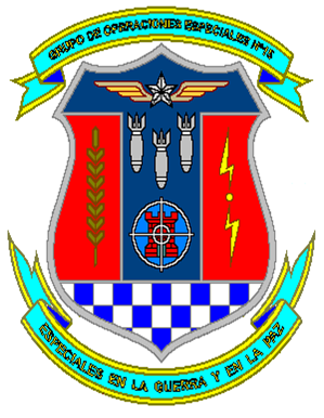 Coat of arms (crest) of the Special Operations Air Group No 15, Air Force of Venezuela